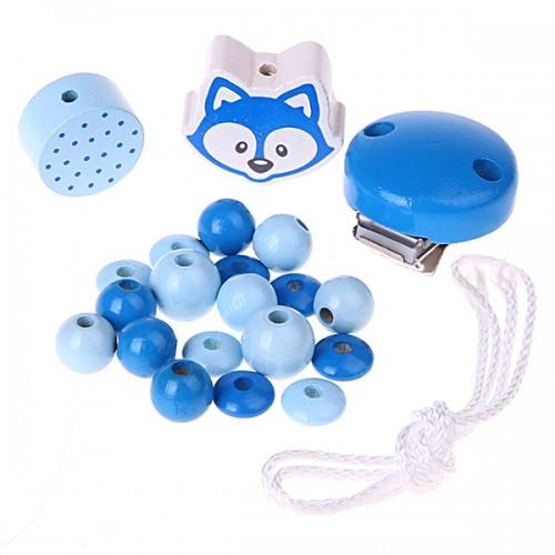 Bastelset Schnullerkette Blau III