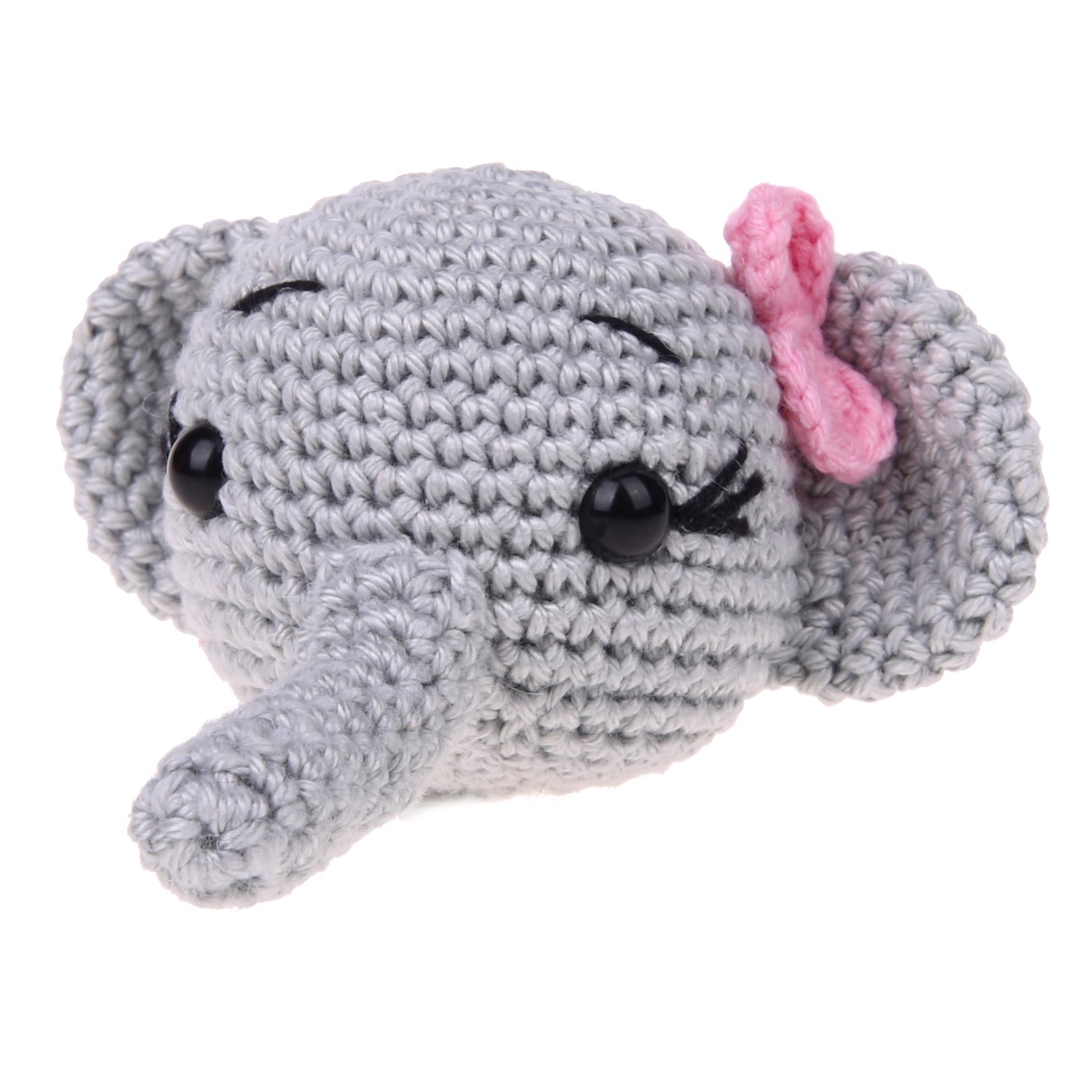 Häkeltier Elefant mit Schleife