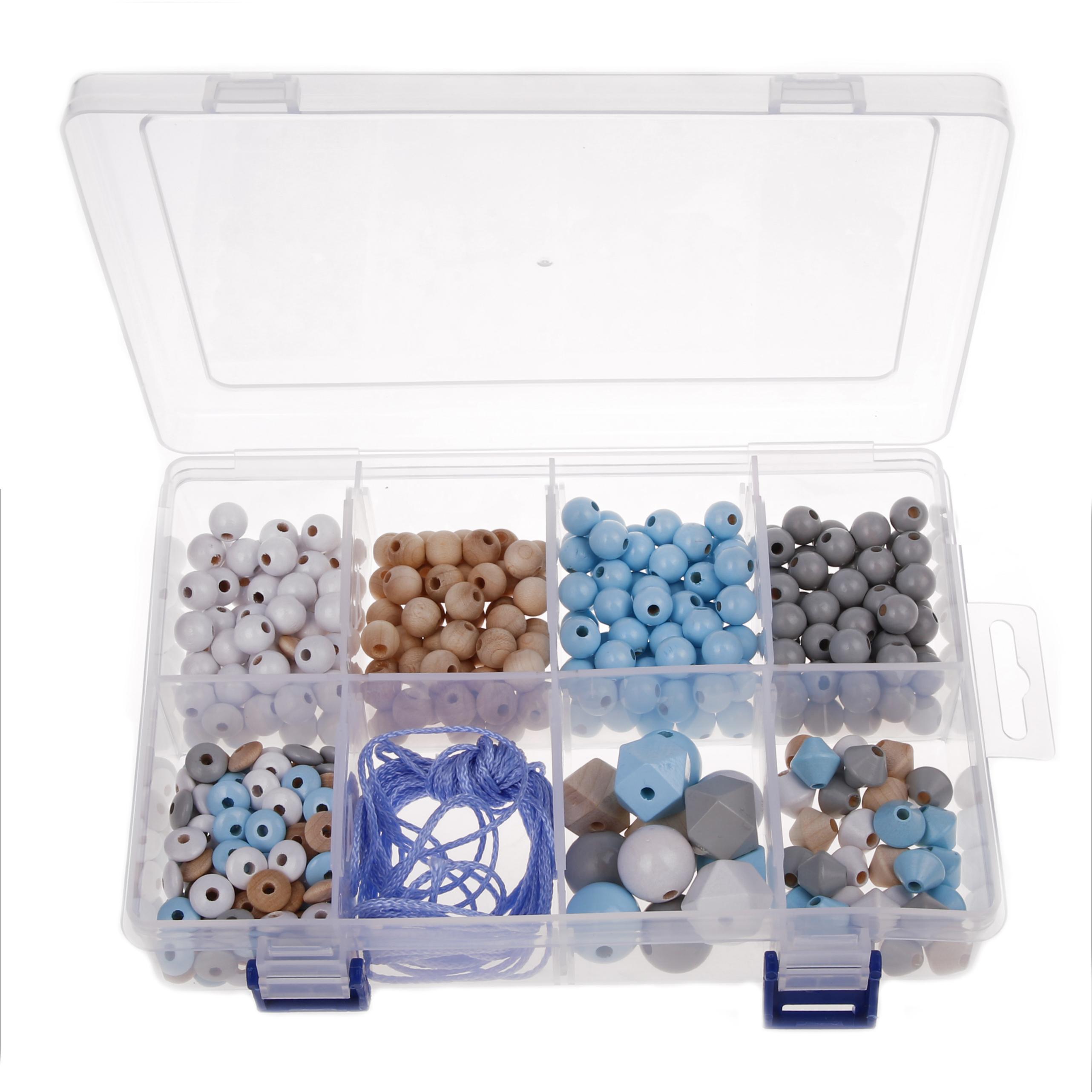 Perlenbox Blautöne
