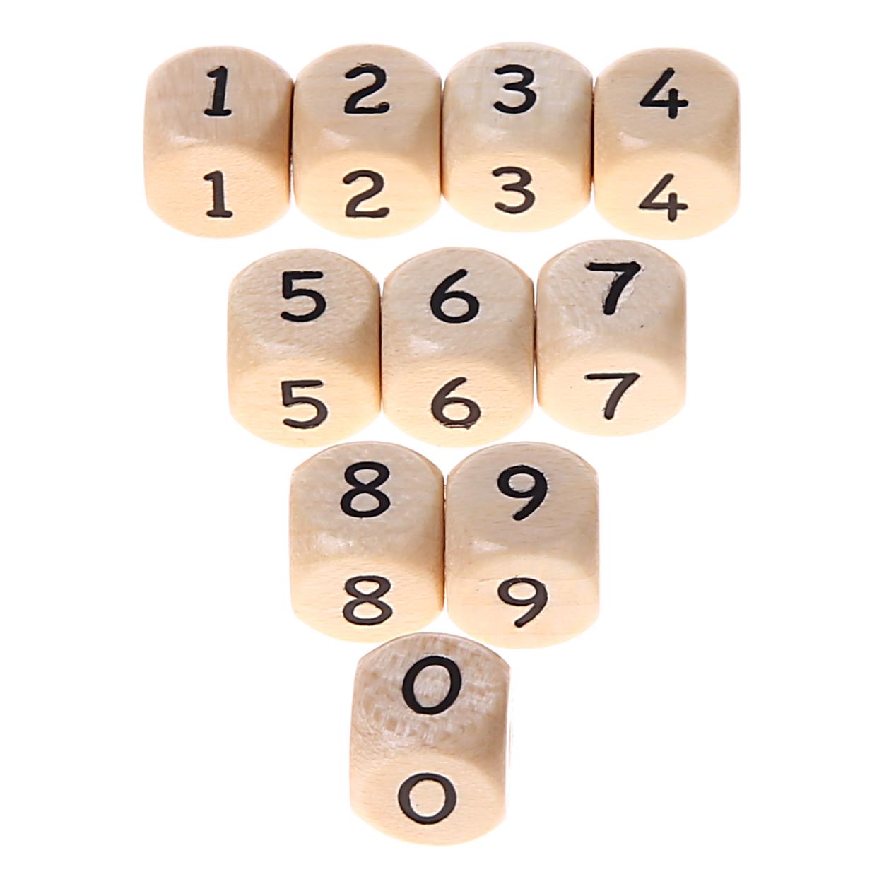 Zahlenperlen 10 mm geprägt