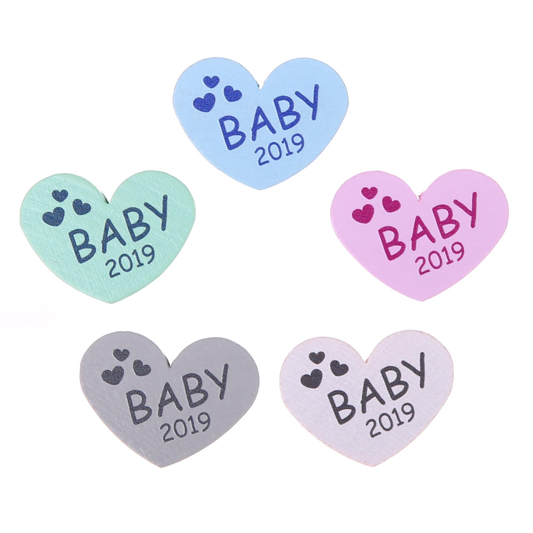 Motivperle Herz Baby 2019