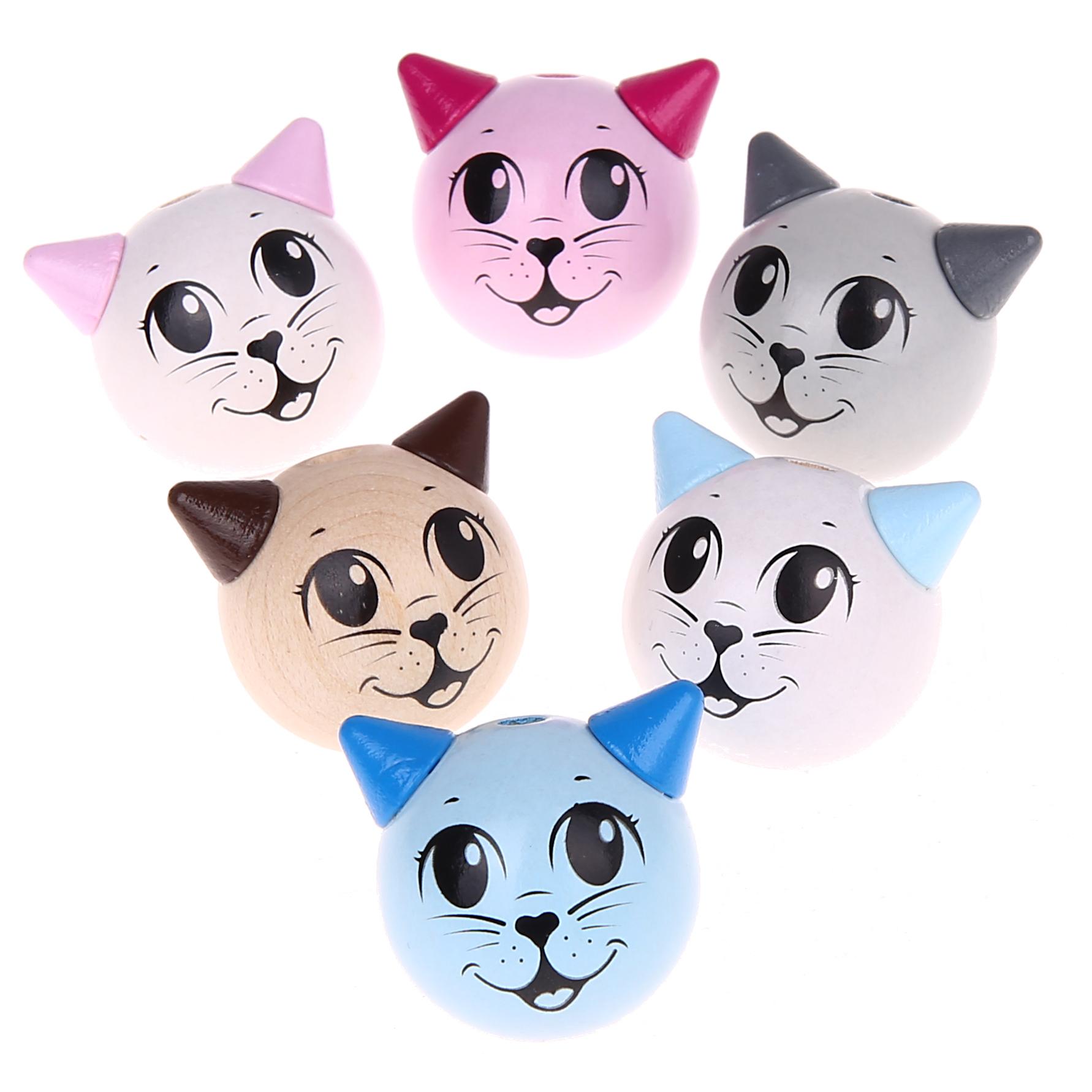 Motivperle 3D Katze