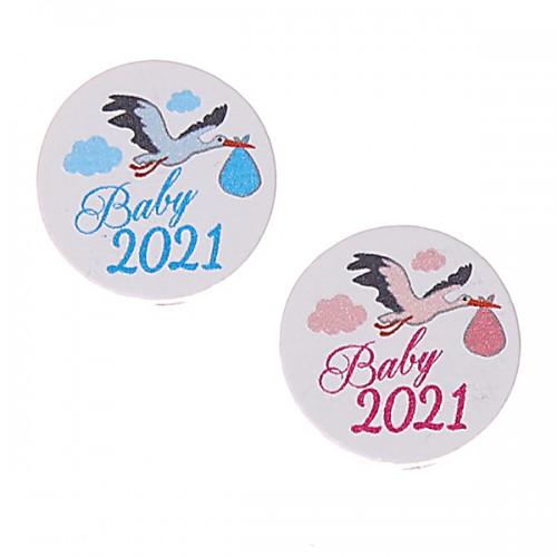 Motivperle / Scheibe Baby 2021