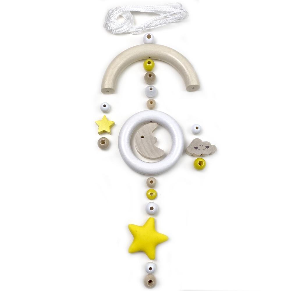 Bastelset Baby Mobile, Mond und Sterne Gelb
