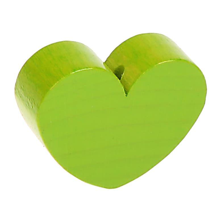 Motivperle Herz (mini) 'gelbgrün' 164 auf Lager