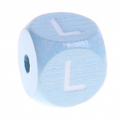 Buchstabenperlen babyblau 10x10mm 'L' 1305 auf Lager