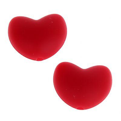 Silikonmotiv Herz 'rot' 0 auf Lager