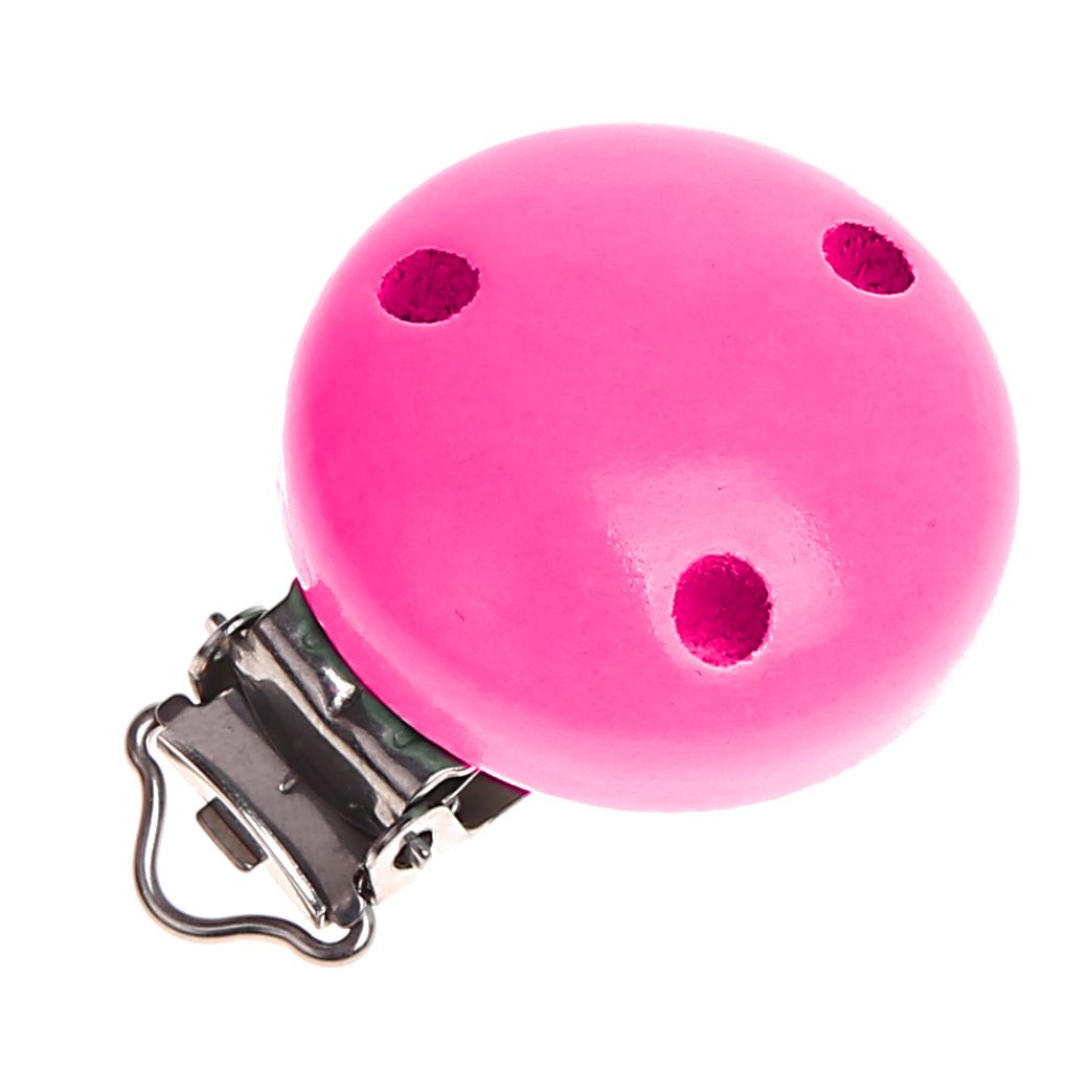 Holzclip / Schnullerclip Ø35mm 'pink' 399 auf Lager