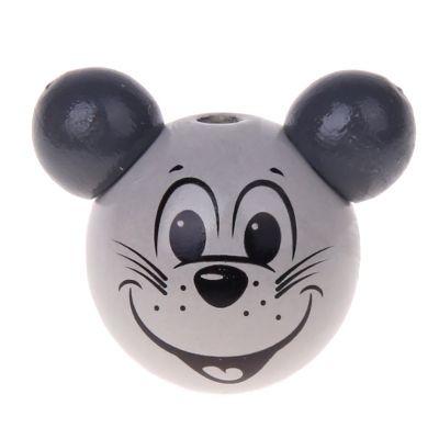 Motivperle 3D Maus 'grau' 140 auf Lager