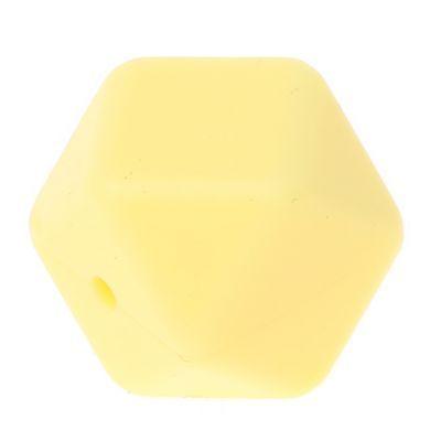 Hexagonperle Silikon 'pastellgelb' -2 auf Lager