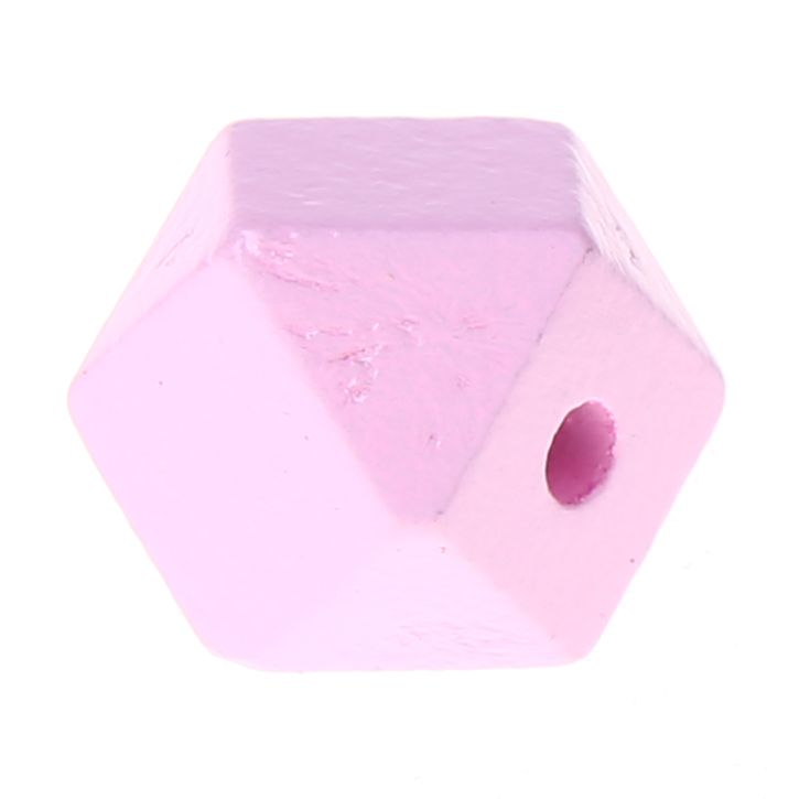 Hexagonperlen 16mm 'rosa' 710 auf Lager