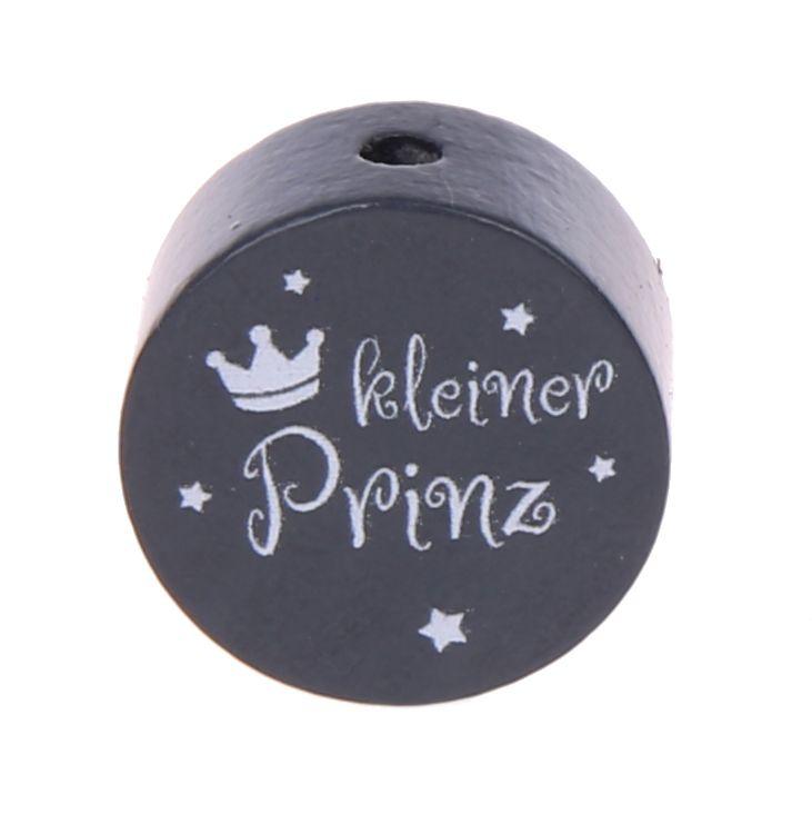 Motivperle Scheibe kleiner Prinz Glitzer 'grau' 0 auf Lager