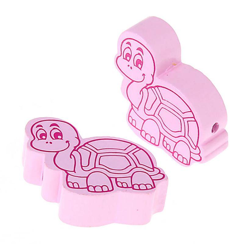 Motivperle Schildkröte • 10 Stück 'rosa' 117 auf Lager