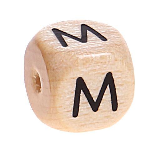Buchstabenwürfel Holz geprägt 10 mm 'M' 2088 auf Lager