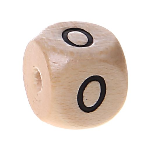 Zahlenperlen 10 mm geprägt '0' 666 auf Lager