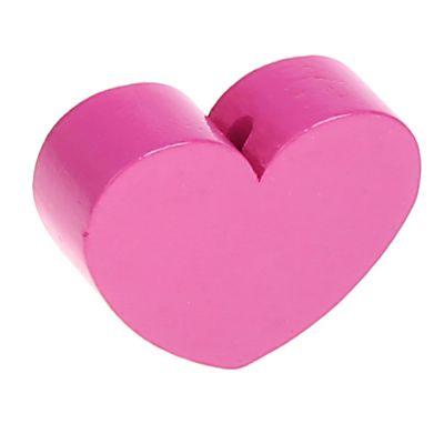 Motivperle Formperle Herz Groß 'pink' 387 auf Lager