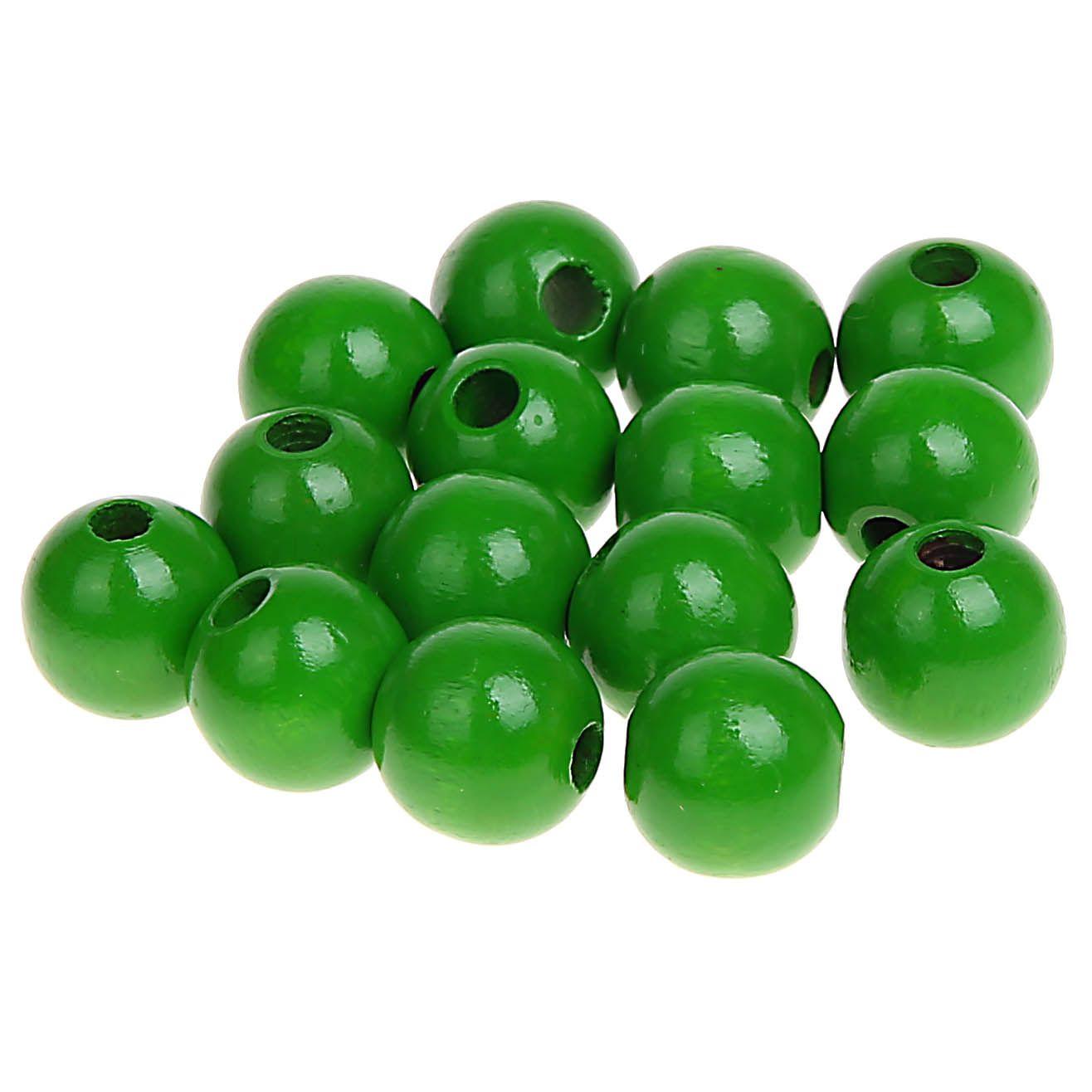 Holzperlen 12mm • 30 Stück 'grün' 0 auf Lager