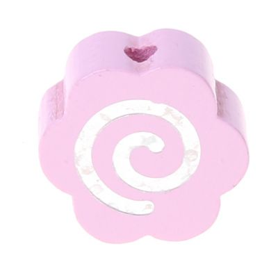 Motivperle Glitzerblümchen Spirale 'rosa' 277 auf Lager