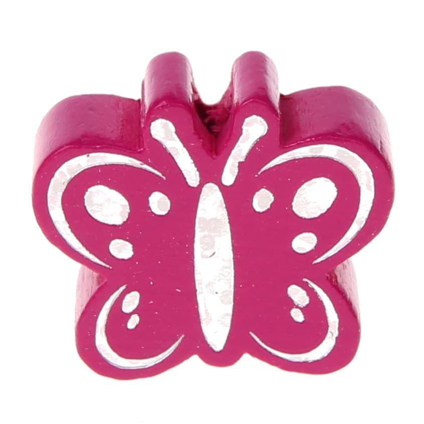 Motivperle Schmetterling Glitzer 'dunkelpink' 520 auf Lager