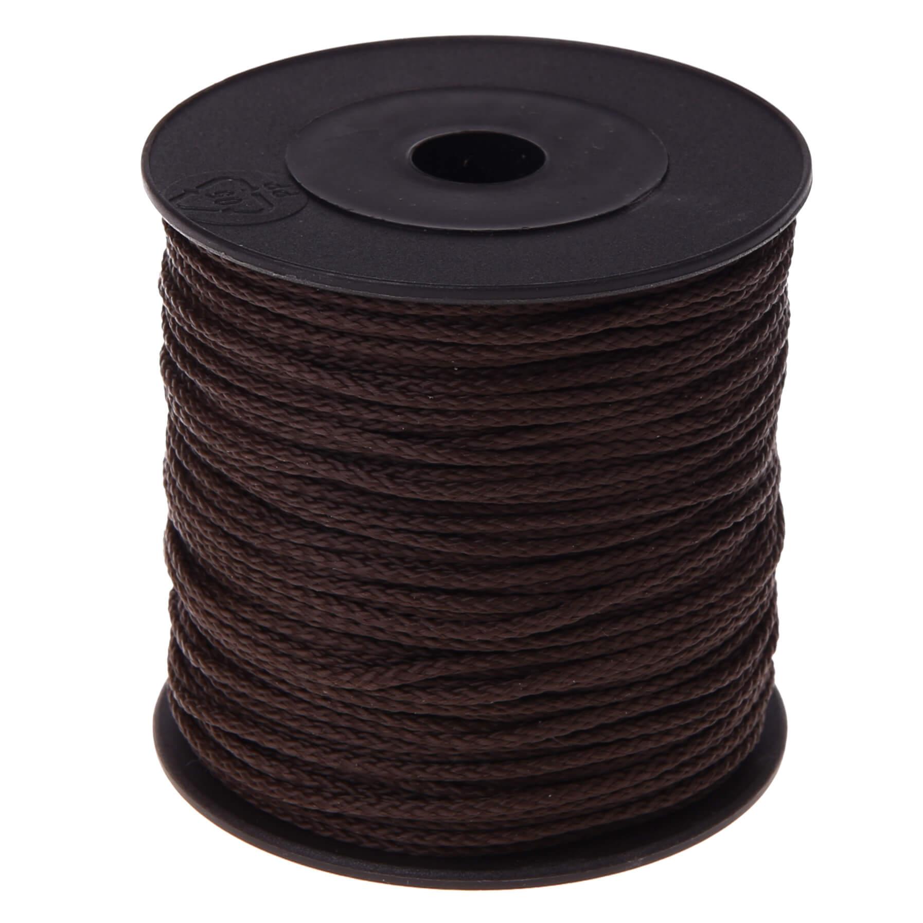 Polyester-Faden Ø 1,5mm • 1 Meter 'schwarz' 159 auf Lager