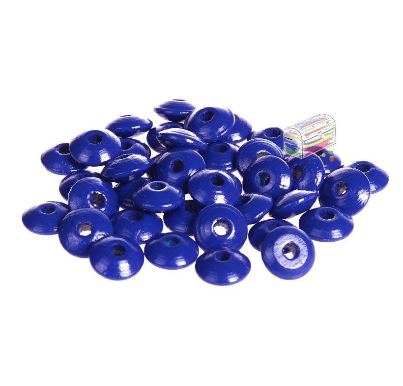 Holzlinsen 10mm • 50 Stück 'dunkelblau' 212 auf Lager