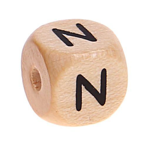 Buchstabenwürfel Holz geprägt 10 mm 'N' 2685 auf Lager