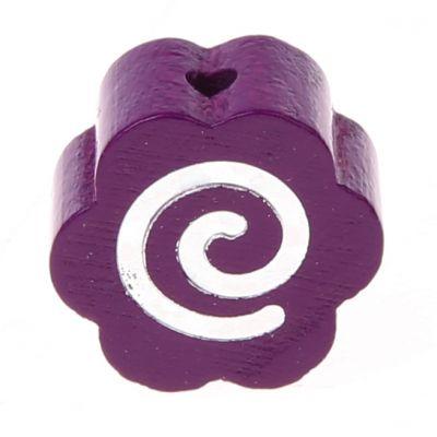 Motivperle Glitzerblümchen Spirale 'purpur' 481 auf Lager
