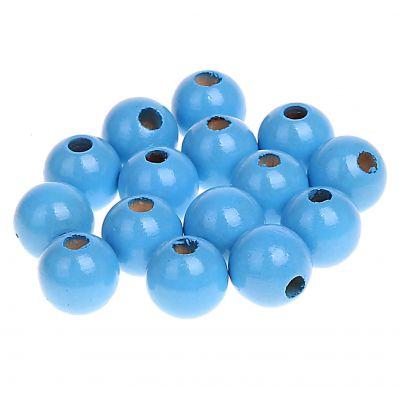 Holzperlen 12mm • 30 Stück 'skyblau' 0 auf Lager