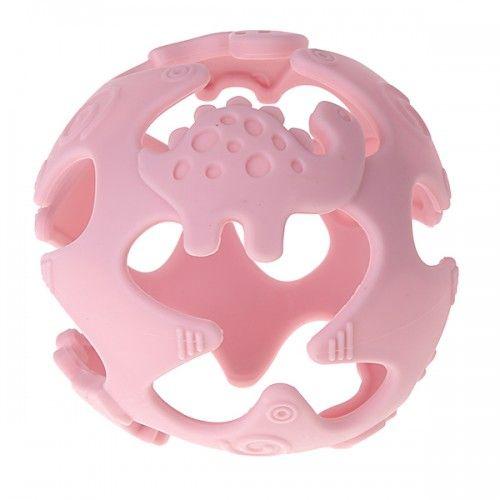 Silikonball Dinosaurier 'rosa' 0 auf Lager