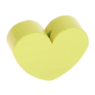 Motivperle Formperle Herz Groß 'lemon' 435 auf Lager
