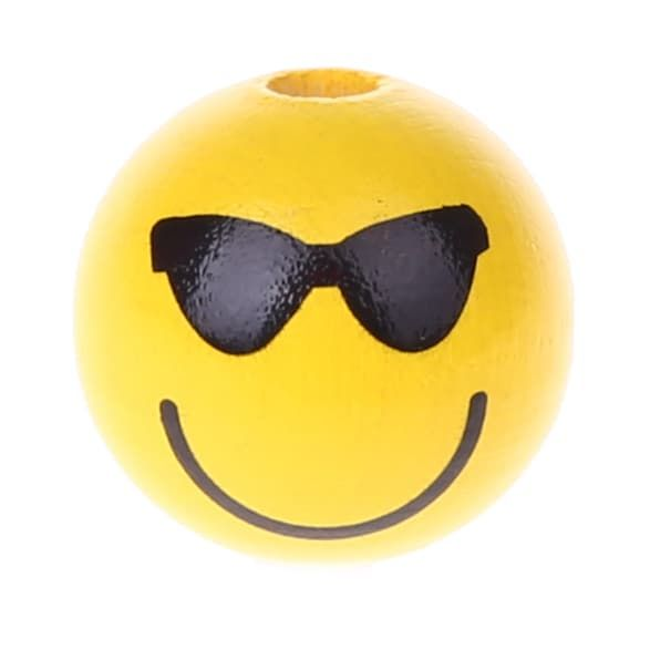 Motivperle Smiley 'cool' 889 auf Lager