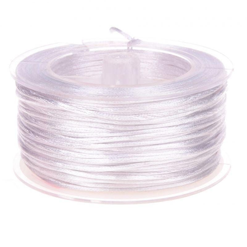 Satinband Ø 1,5 mm • 50 Meter 'weiß' 2 auf Lager
