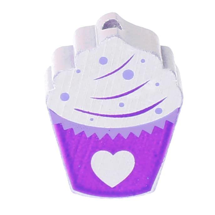 Motivperle Cupcake 'lila' 222 auf Lager