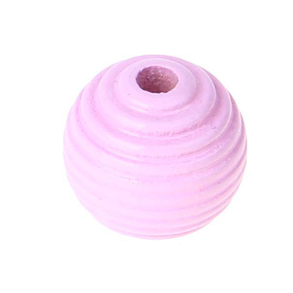 Rillenperlen 14mm • 15 Stück 'rosa' 158 auf Lager