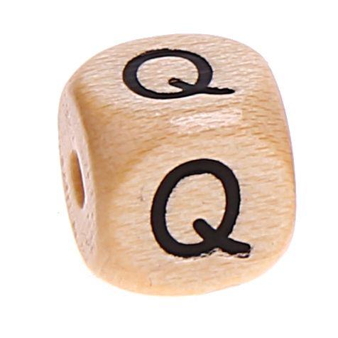 Buchstabenwürfel Holz geprägt 10 mm 'Q' 1421 auf Lager