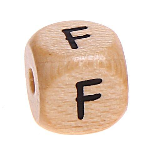 Buchstabenwürfel Holz geprägt 10 mm 'F' 202 auf Lager