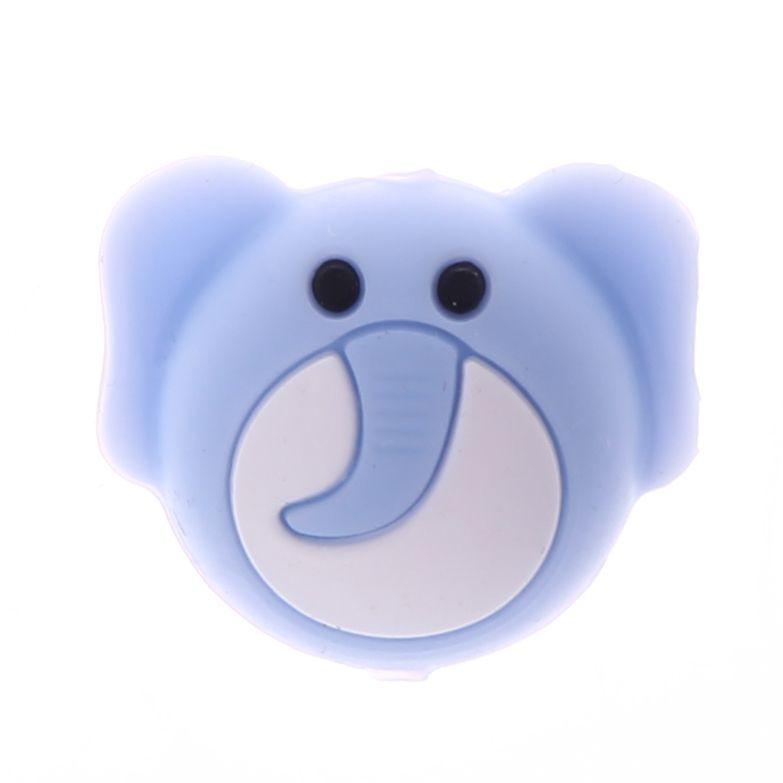 Silikonmotiv Elefant 'babyblau' 38 auf Lager