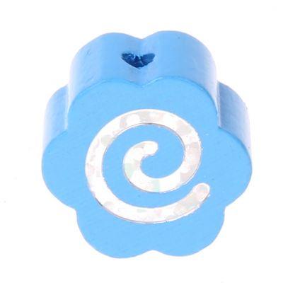 Motivperle Glitzerblümchen Spirale 'skyblau' 1037 auf Lager
