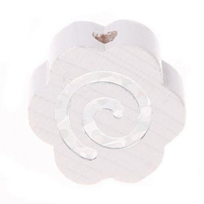 Motivperle Glitzerblümchen Spirale 'weiß' 422 auf Lager