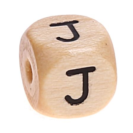 Buchstabenwürfel Holz geprägt 10 mm 'J' 53 auf Lager