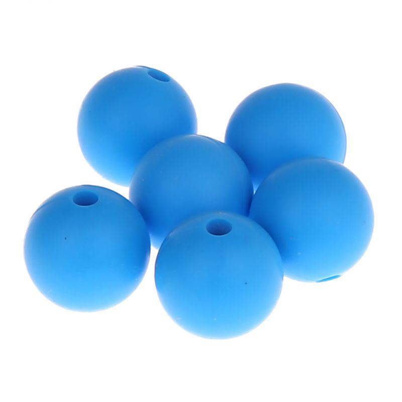 Silikonperle 12mm 'skyblau' 0 auf Lager