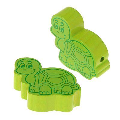 Motivperle Schildkröte • 10 Stück 'gelbgrün' 118 auf Lager