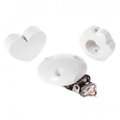 Schnullerketten Bastelset Mini 'weiß' 0 auf Lager