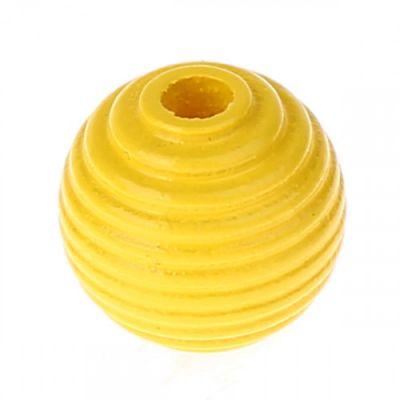 Rillenperlen 14mm • 15 Stück 'gelb' 11 auf Lager