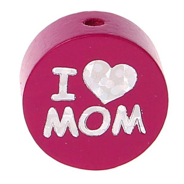 Motivperle I Love MOM / DAD 'dunkelpink' 0 auf Lager