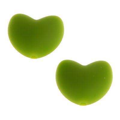 Silikonmotiv Herz 'gelbgrün' 49 auf Lager