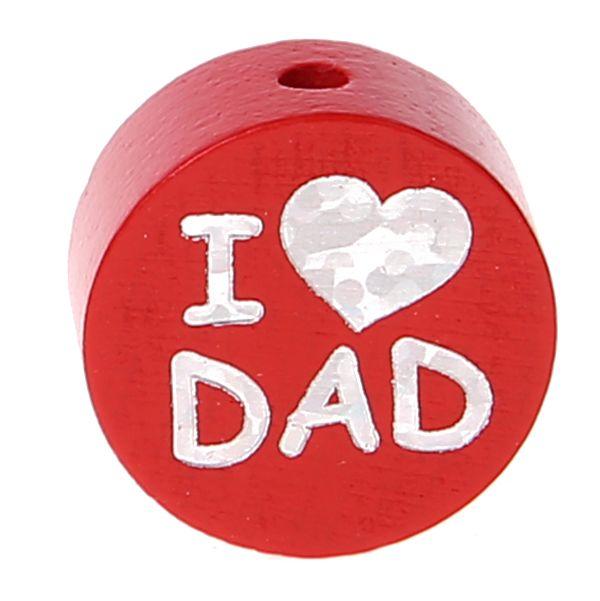 Motivperle I Love MOM / DAD 'rot' 520 auf Lager