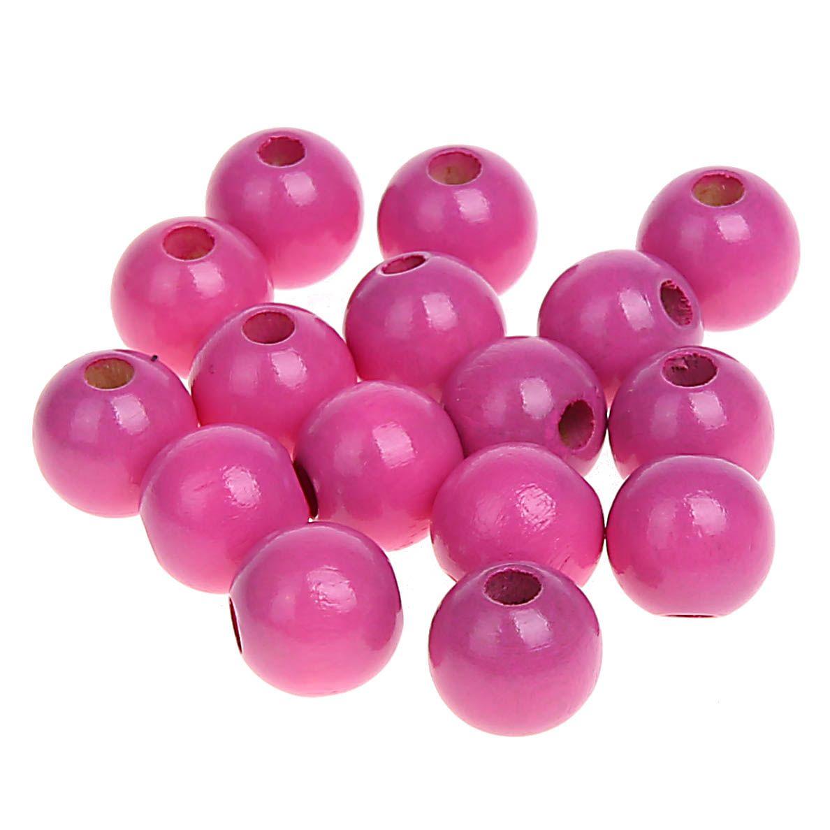 Holzperlen 10mm • 50 Stück 'pink' 132 auf Lager