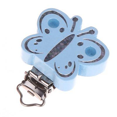 Schmetterlingclip Glitzer 'babyblau' 361 auf Lager