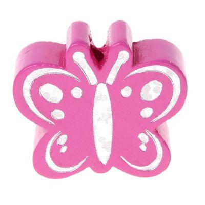 Motivperle Schmetterling Glitzer 'pink' 823 auf Lager